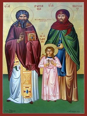 Святые мученики Рафаил, Николай и Ирина Лесбосские